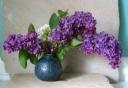 lilac wine vase