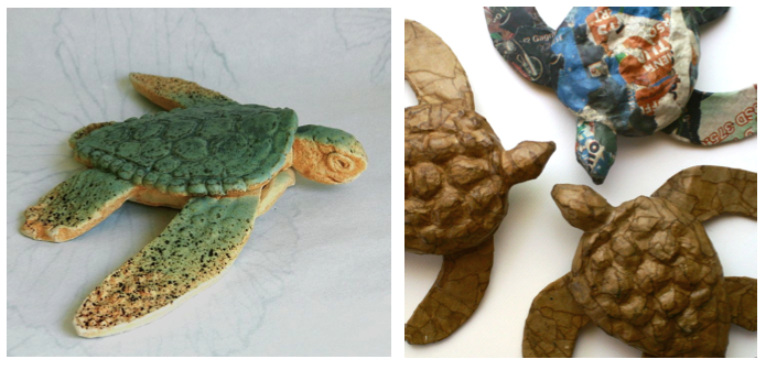 Endangered Tortoise Sculpture, Stage One | Ultimate Paper Mache | 336x695