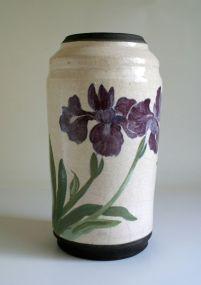 wine iris vase
