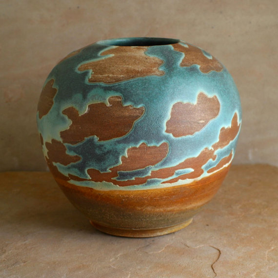 wood fire vase