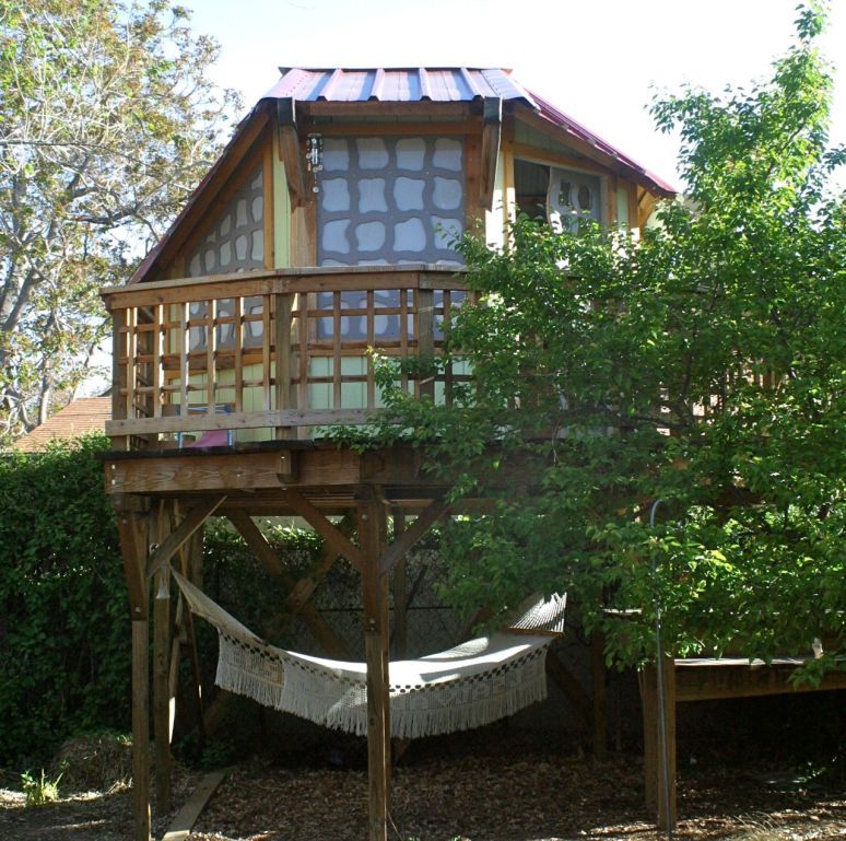 The treehouse came along in 2009, thanks to a talented carpenter builder.
