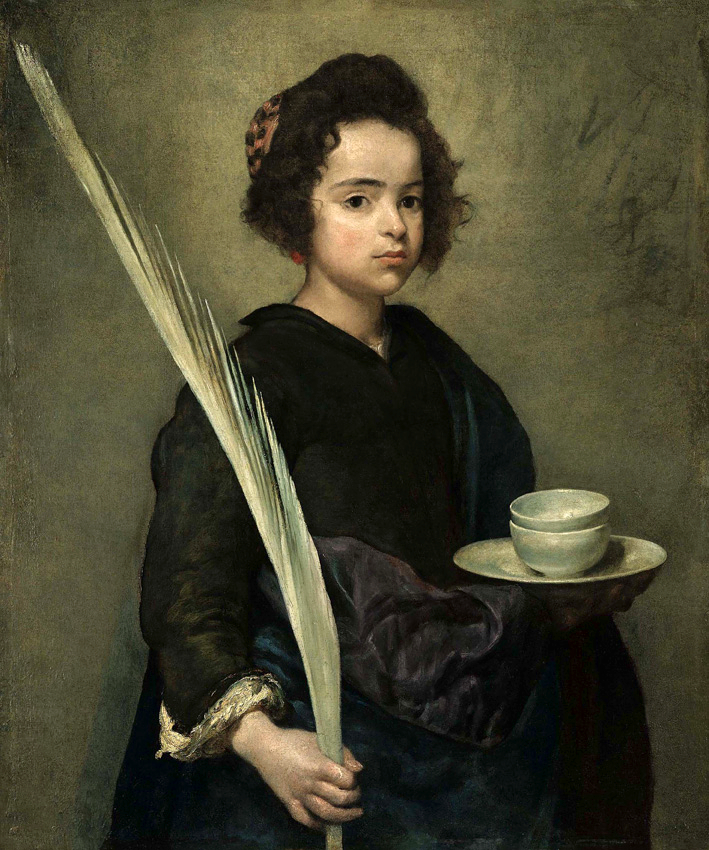 Saint Rufina, by Velázquez. See the resemblance?? She's even carrying a giant feather!