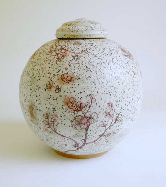 large ceramic flower urn