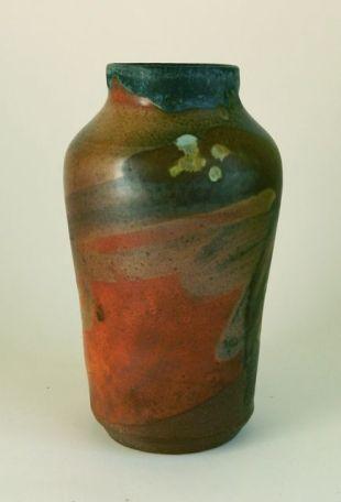 "Vase with Matte Black Rim, 7.5"" x 4.25"" $85"