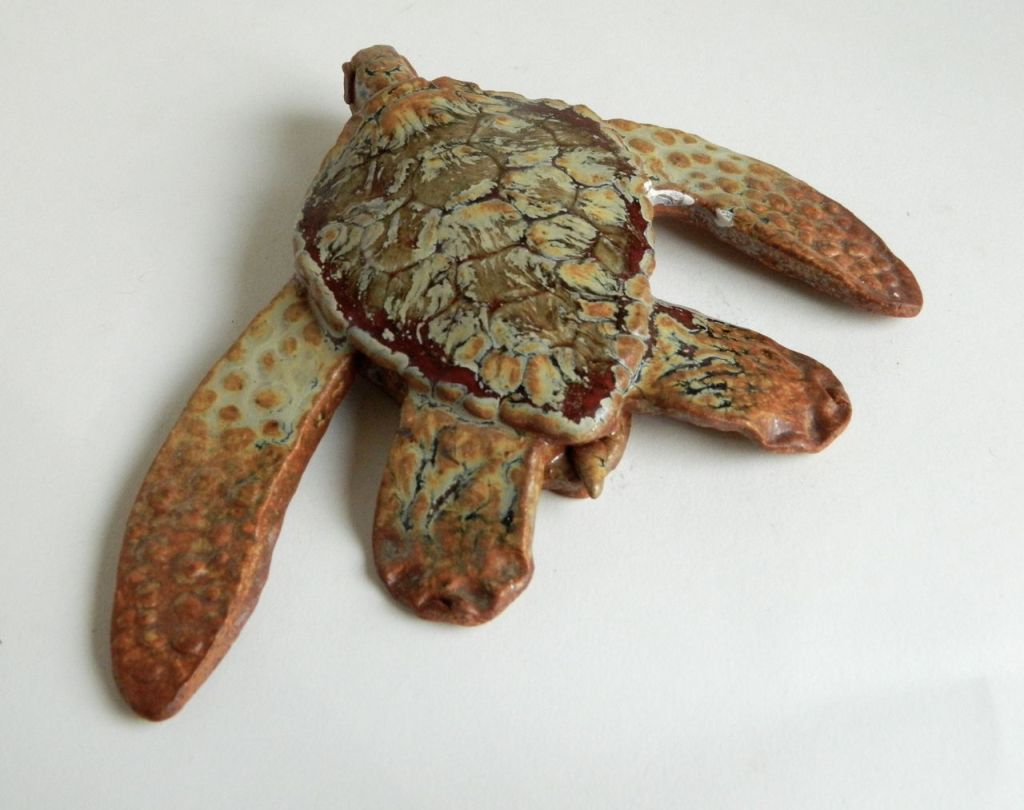 ceramic turtle sculpture