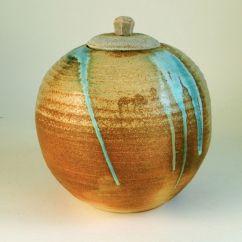 "Carved and Lidded Vase 6"" x 5.75"" $125"