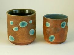 "Pair of Pebble Tumblers 3.5"" x 3"" / 2.5"" x 2"" $35"