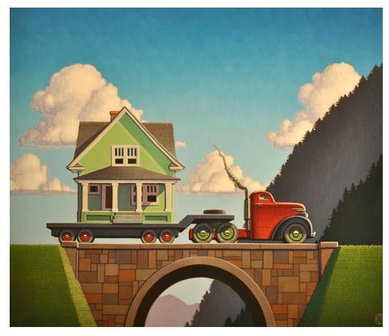 "August 27, Santa Fe, NM: Greener Grass, 20"" h x 23"" w, by Robert La Duke, my good friend & art school studio mate."
