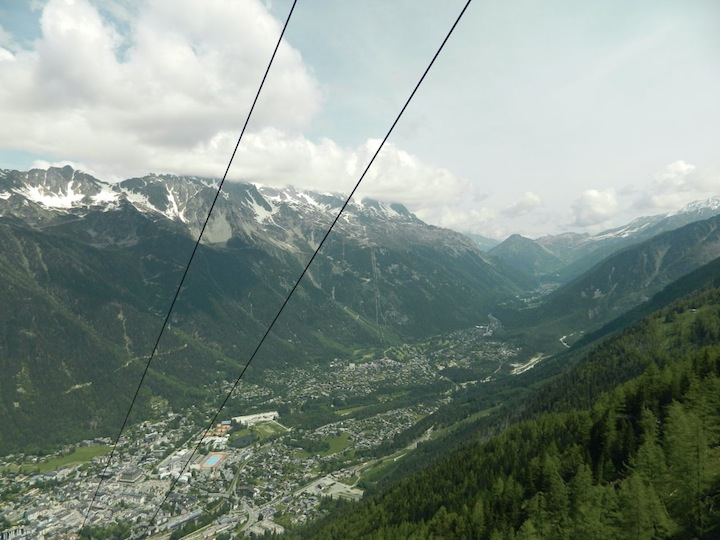 June 6, Chamoni, France: Cable car to Mont Blanc, 3482 m.