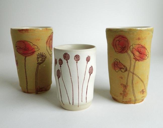 Poppy Tumblers, various sizes
