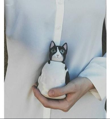 custom white cat urn