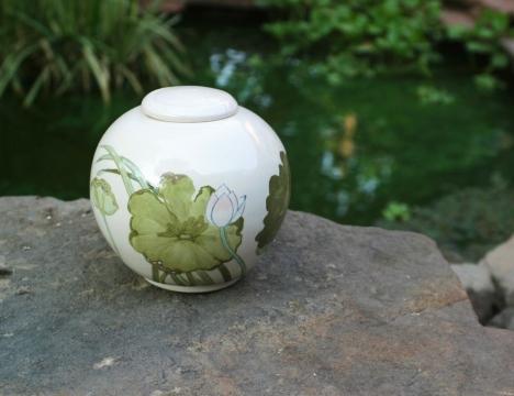 large lotus urn