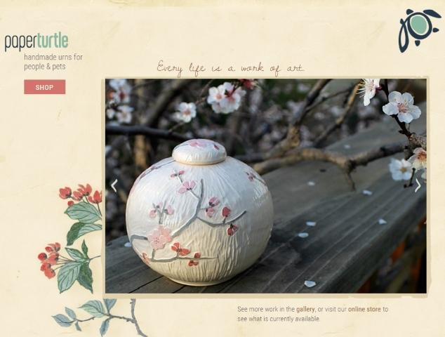 paper turtle handmade urns